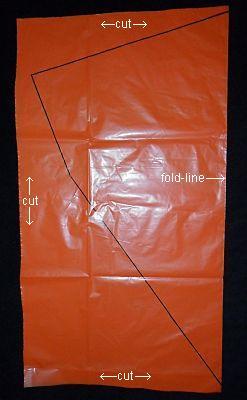The 2-Skewer Diamond - bag cut on 3 sides.