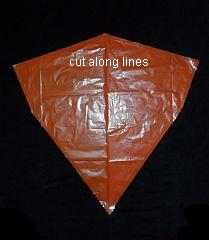 The 2-Skewer Diamond - sail cut out