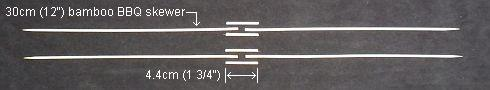 The 2-Skewer Diamond - all 8 pieces of skewer