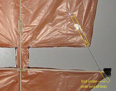 The 2-Skewer Dopero - upper sail tethering