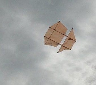 Learn how to build a Dopero kite from bamboo skewers and plastic.