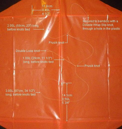 The 2-Skewer Rokkaku - all details of the bridle.