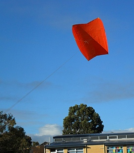 Learn how to build a Sled kite like this one.
