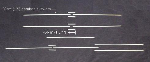 The 2-Skewer Rokkaku - all 15 pieces of skewer.