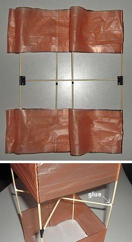 The 1-Skewer Box kite - fitting the cross-pieces