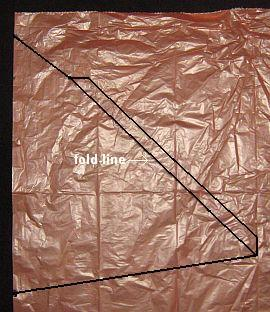The 1-Skewer Delta - template marked on plastic.