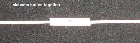 The 1-Skewer Rokkaku - vertical spar join