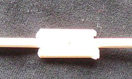 The 1-Skewer Roller - close-up of the vertical spar join