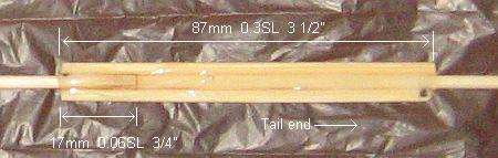 The 1-Skewer Sode - vertical spar join in close-up