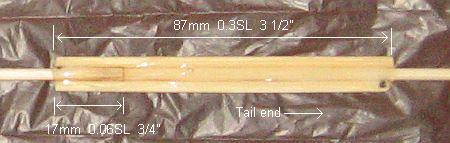 The 1-Skewer Sode - vertical spar join in close-up