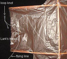 The 1-Skewer Sode - attaching the flying line.