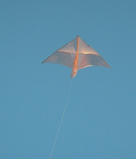 A lightly built dowel-and-plastic Delta would make a fine indoor kite!