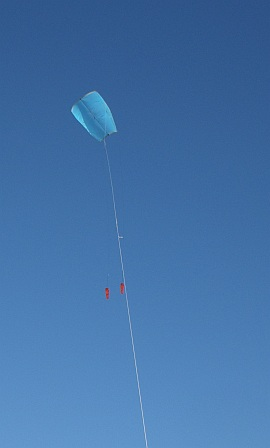 KAP Adelaide CBD 2. Multi-Dowel Sled in flight.