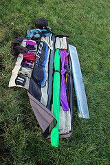 A typical roll-up kite bag.