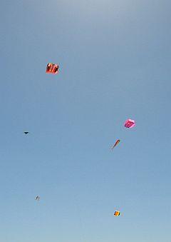 Some festival kites flying at near 400 feet altitude