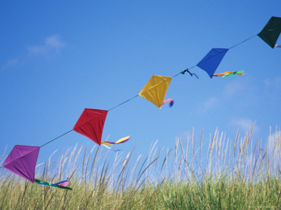Part of a Diamond kite arch