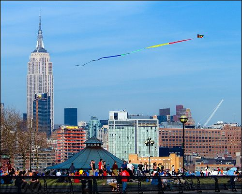 A kite over New York.