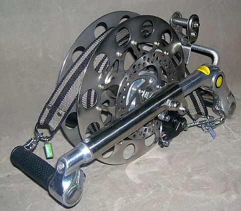 Kite reels don't come more elaborate and expensive than this one!