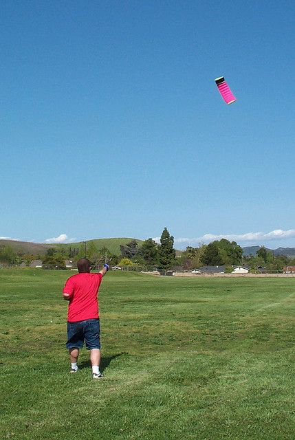 Kite Safety - plenty of room for this soft stunt kite to fly!