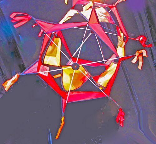 A rotating hexagonal kite.