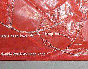 Attaching flying line to bridle