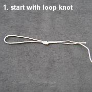 Knot Tying Illustration - The Lark's Head Knot