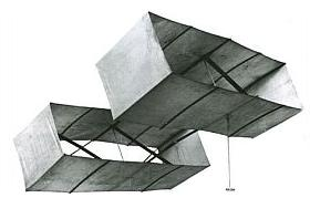 Lawrence Hargrave finally perfected his box kite design, shown here
