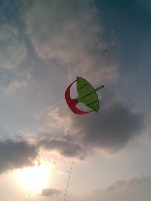 Moon Kite Flying