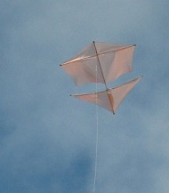 Learn how to make a Roller kite from dowel and plastic.
