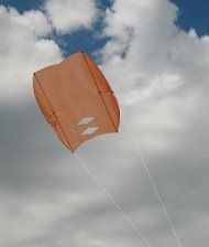 Make a Sled kite like this one for smooth air flying.