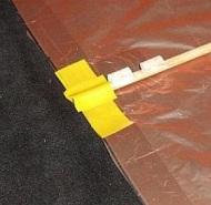 The Dowel Box - spar tip close-up