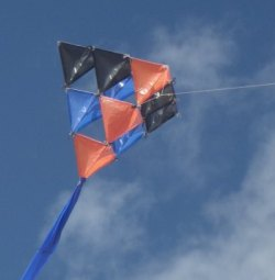 The MBK 10-Cell Skewer Tetrahedral kite.