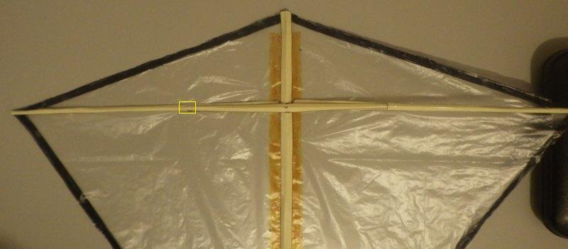 Making the Indoor Diamond kite - Step 5b