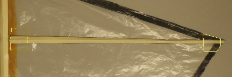Making the Indoor Diamond kite - Step 4e