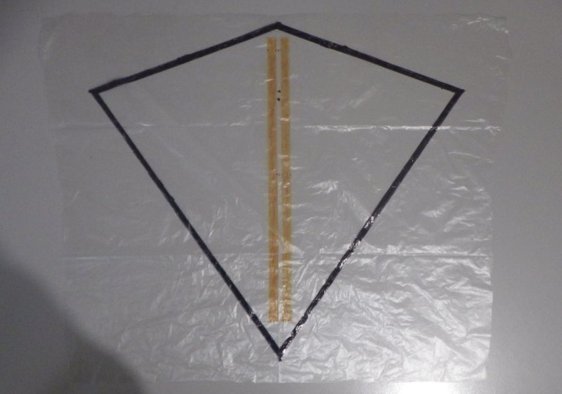 Making the Indoor Diamond kite - Step 2a
