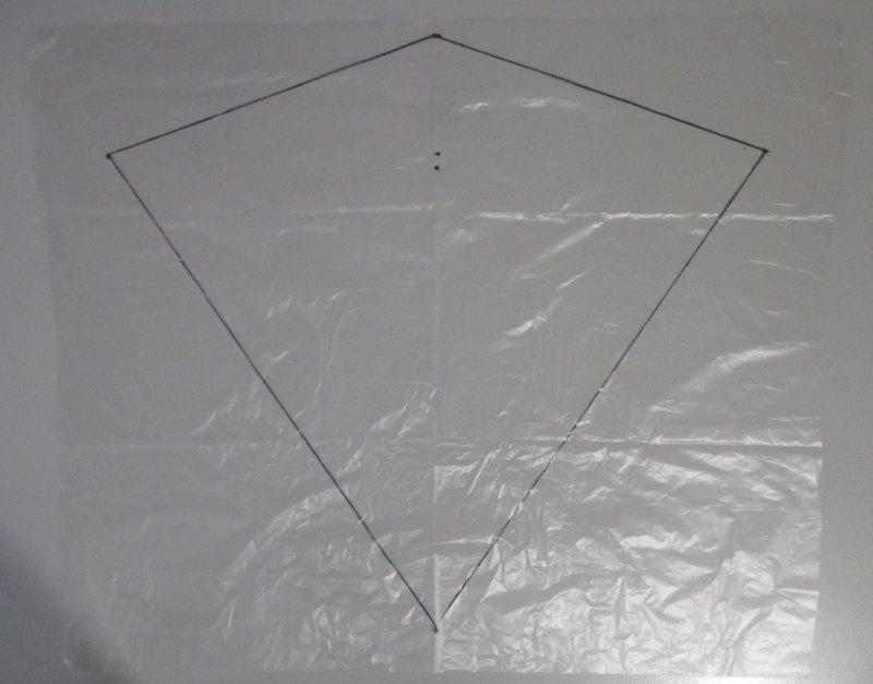 Making the Indoor Diamond kite - Step 1d