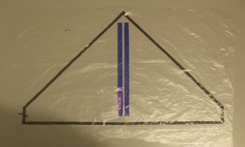 Making the Indoor Delta kite - Step 2a