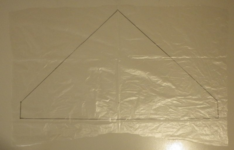 Making the Indoor Delta kite - Step 1d