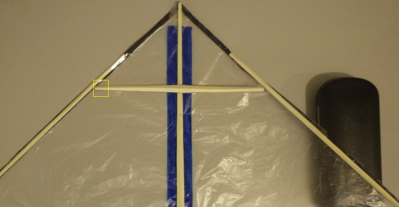 Making the Indoor Delta kite - Step 5b
