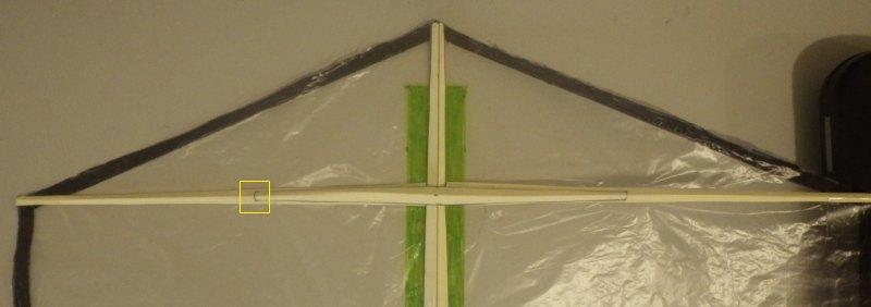 Making the Indoor Rokkaku kite - Step 5b