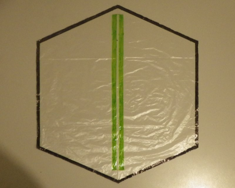 Making the Indoor Rokkaku kite - Step 2b