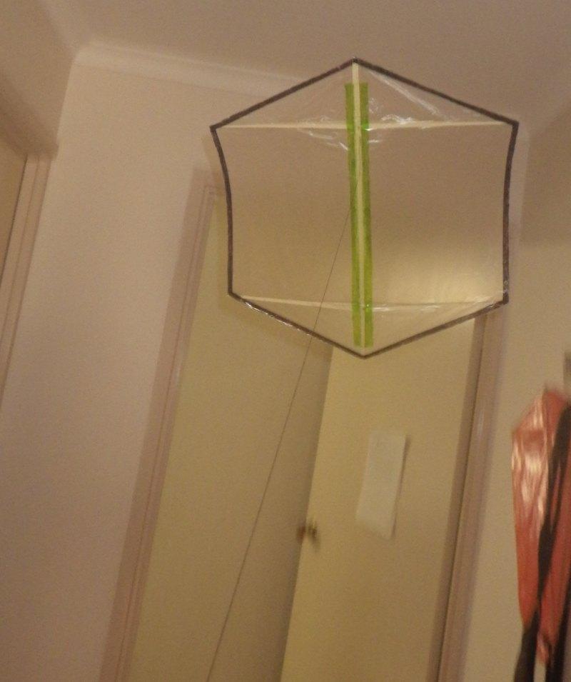 Making the Indoor Rokkaku kite - Step 7a