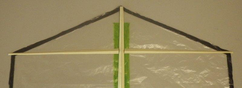 Making the Indoor Rokkaku kite - Step 4d