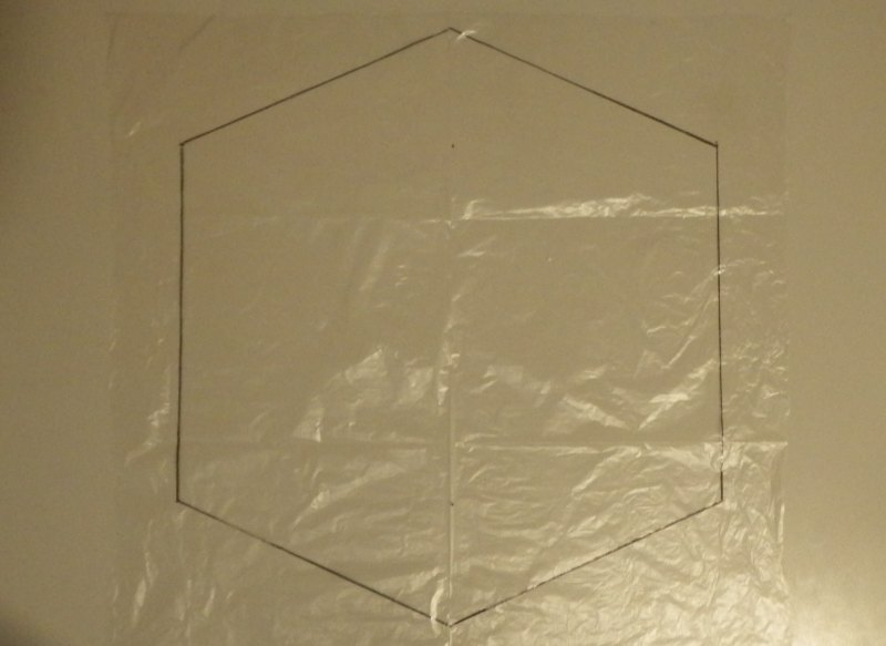 Making the Indoor Rokkaku kite - Step 1d