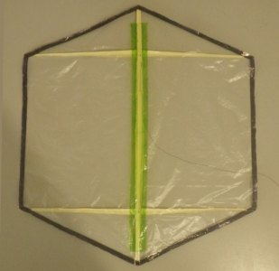 Making the Indoor Rokkaku kite - top