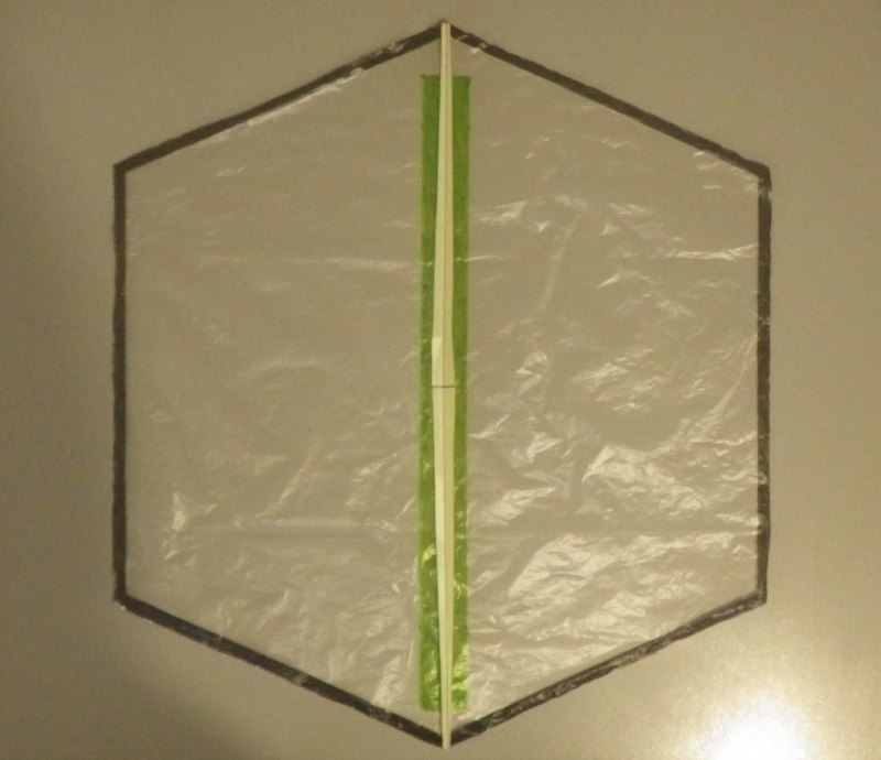 Making the Indoor Rokkaku kite - Step 4a
