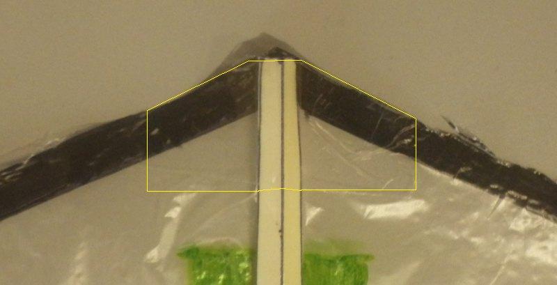 Making the Indoor Rokkaku kite - Step 4b