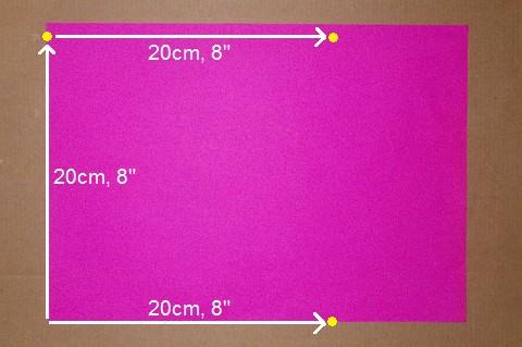 Making the Minimum Tetra kite - Step 1a