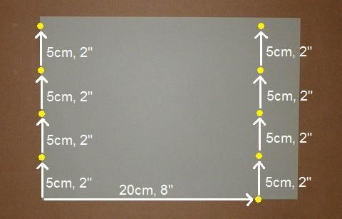 Making the Minimum Tetra kite - Step 2a