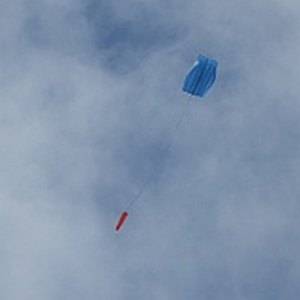 The MBK Parafoil in flight.
